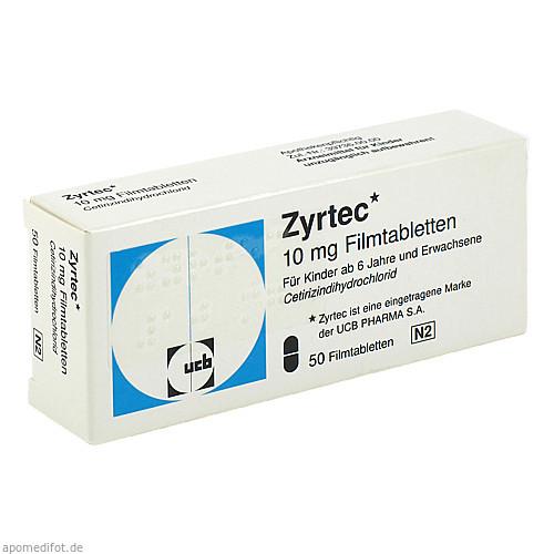 ZYRTEC, 50 ST, kohlpharma GmbH
