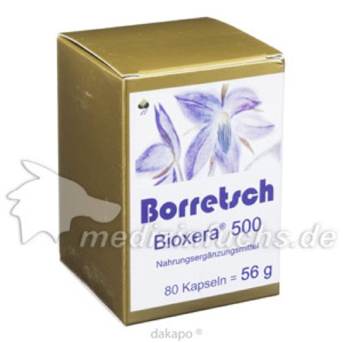Borretsch Bioxera 500, 80 ST, Fbk-Pharma GmbH