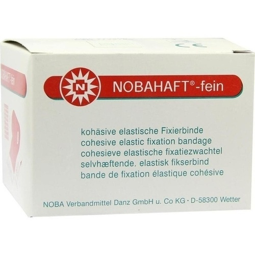 NOBAHAFT-FEIN 20mX6cm rote Kohäsive Fixierbinde, 1 ST, Nobamed Paul Danz AG