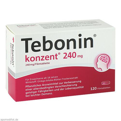 Tebonin Konzent 240mg Filmtabletten, 120 ST, Dr.Willmar Schwabe GmbH & Co. KG