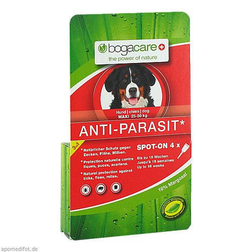 bogacare ANTI-PARASIT Spot on Hund gross, 4X2.5 ML, Werner Schmidt Pharma GmbH