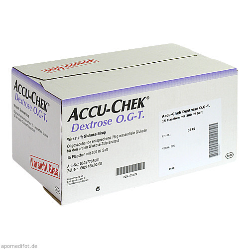 Accu-Chek Dextrose O.G-T., 15X300 ML, Roche Diabetes Care Deutschland GmbH