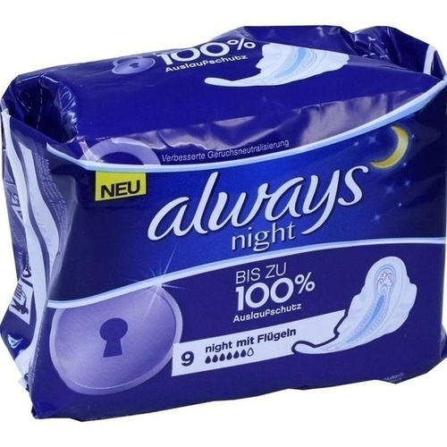 Always Ultra Night, 9 ST, Wick Pharma / Procter & Gamble GmbH