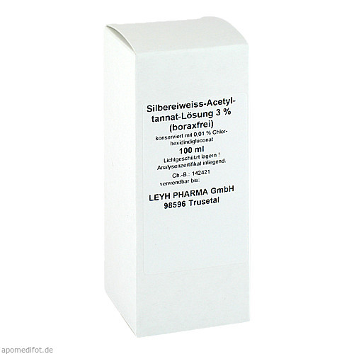 SILBEREIWEISS Acetyltannat Lösung 3% boraxfrei, 100 ML, Glenwood GmbH