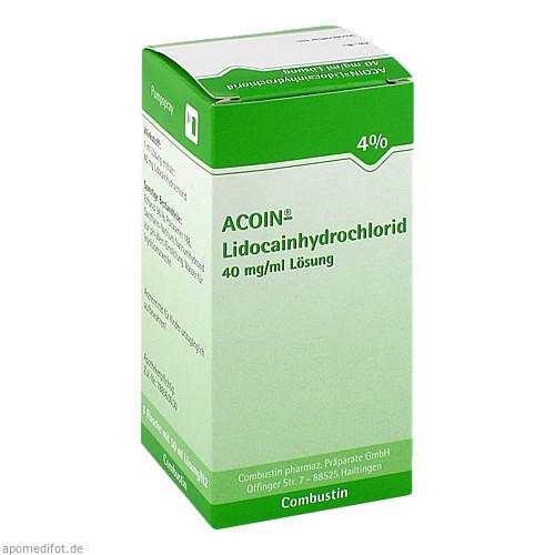 ACOIN-Lidocainhydrochlorid 40mg/ml, 50 ML, Combustin Pharmaz. Präparate GmbH