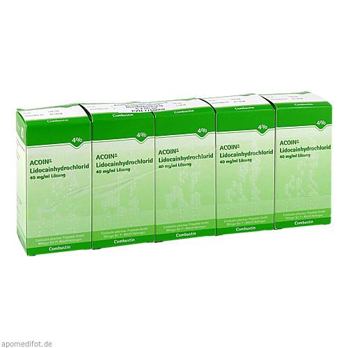 ACOIN-Lidocainhydrochlorid 40mg/ml, 5X50 ML, Combustin Pharmaz. Präparate GmbH