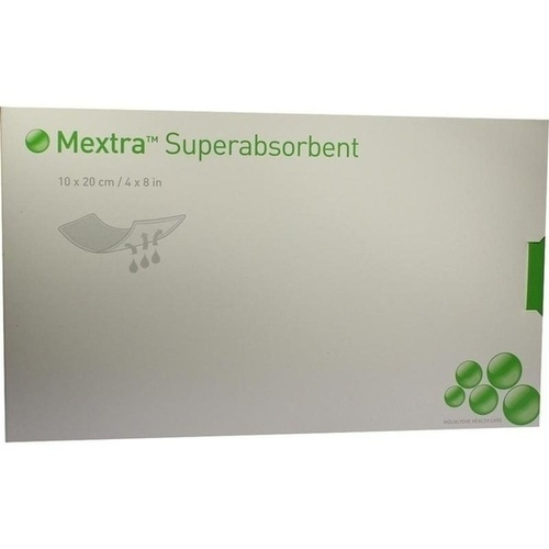 MEXTRA Superabsorbent Verband 10x20 cm, 10 ST, Mölnlycke Health Care GmbH