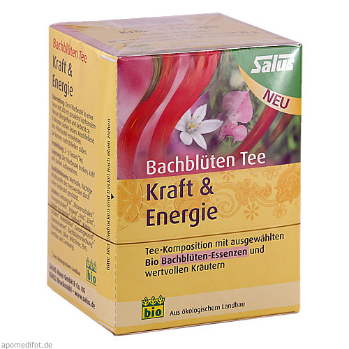 Bachblüten Tee Kraft & Energie bio Salus, 15 ST, Salus Pharma GmbH
