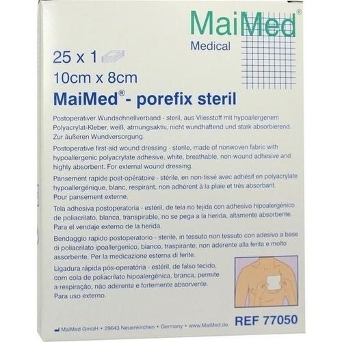 MaiMed-porefix steril 10cmx8cm, 25X1 ST, Maimed GmbH