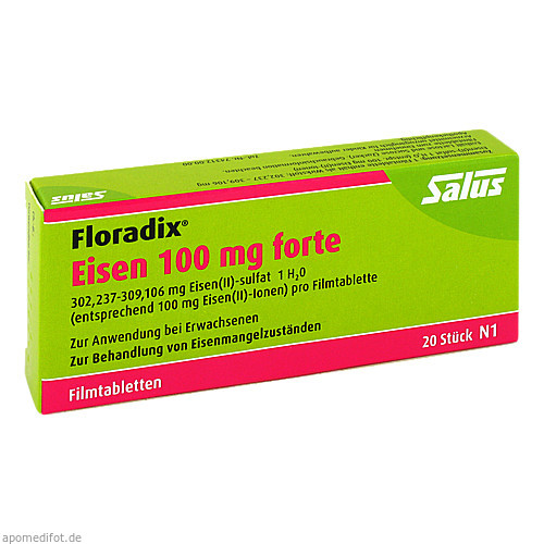 Floradix Eisen 100mg forte, 20 ST, Salus Pharma GmbH