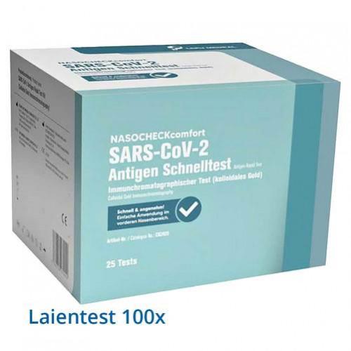 NASOCHECK comfort SARS-CoV-2 Antigen Selbsttest Nasentest, 100 ST, LEPU MEDICAL TECHNOLOGY BEIJING CO. LTD.