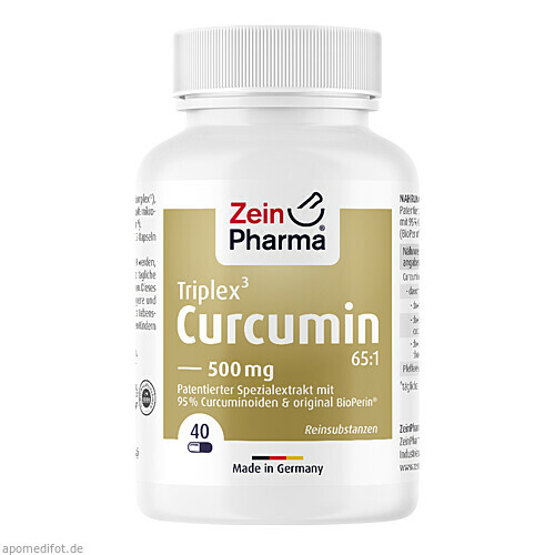 Curcumin Triplex3 Kap 500mg curcu.Extr.95% Curam., 40 ST, Zein Pharma - Germany GmbH