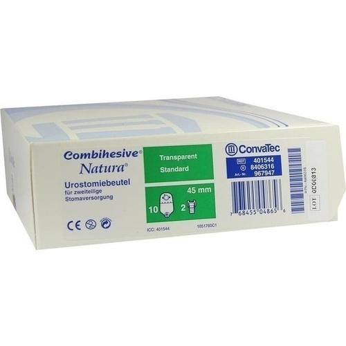COMBIHESIVE NATURA UROSTOMIEBTL M HAHN TRAN 967947, 10 ST, Convatec (Germany) GmbH
