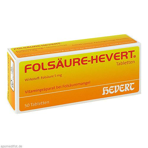 FOLSAEURE HEVERT, 50 ST, Hevert Arzneimittel GmbH & Co. KG
