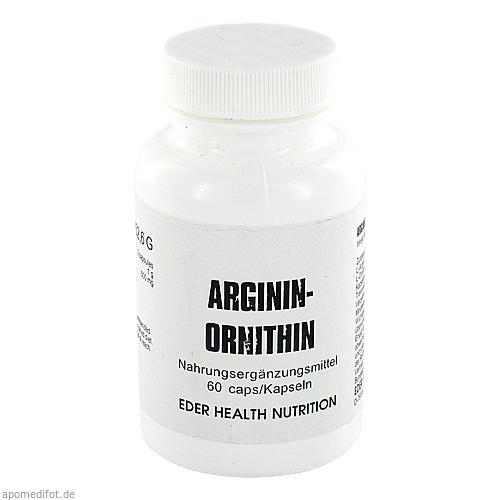 Arginin/Ornithin, 60 ST, Eder Health Nutrition