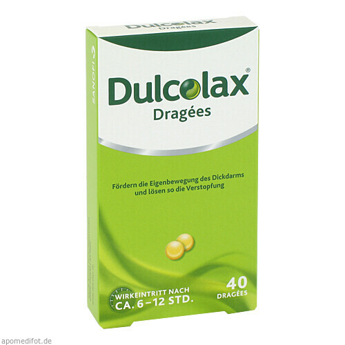 DULCOLAX DRAGEES, 40 ST, Sanofi-Aventis Deutschland GmbH GB Selbstmedikation /Consumer-Care