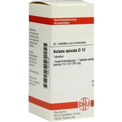 ACTAEA SPICATA D12, 80 ST, Dhu-Arzneimittel GmbH & Co. KG