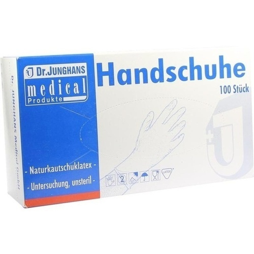 Handschuhe Unters. Latex mittel ungepudert unsteri, 100 ST, Dr. Junghans Medical GmbH