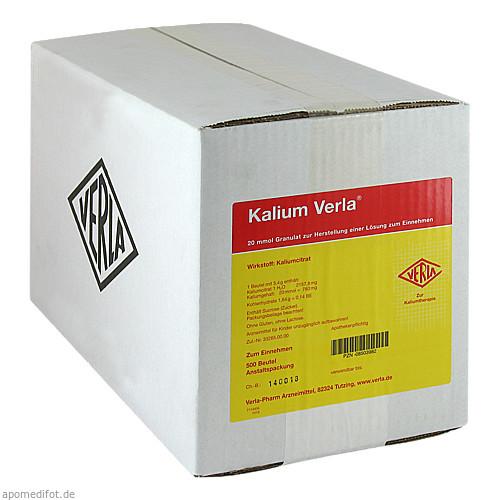 Kalium Verla Granulat, 500 ST, Verla-Pharm Arzneimittel GmbH & Co. KG