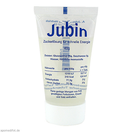 Jubin Zuckerlösung Die schnelle Energie, 40 G, Andreas Jubin Pharma Vertrieb