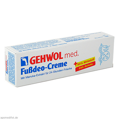GEHWOL med Fußdeo-Creme, 75 ML, Eduard Gerlach GmbH