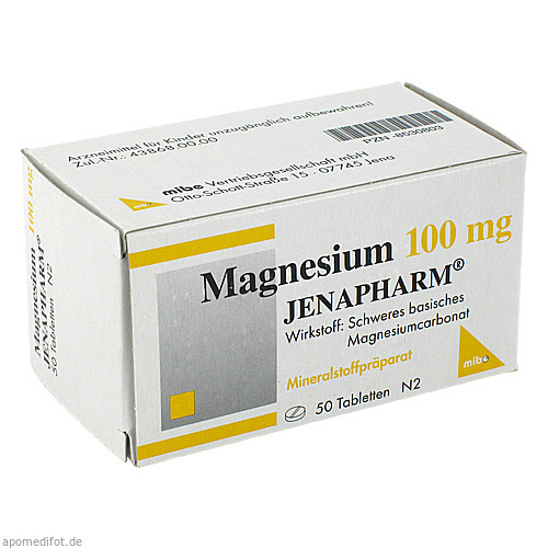 Magnesium 100mg JENAPHARM, 50 ST, Mibe GmbH Arzneimittel