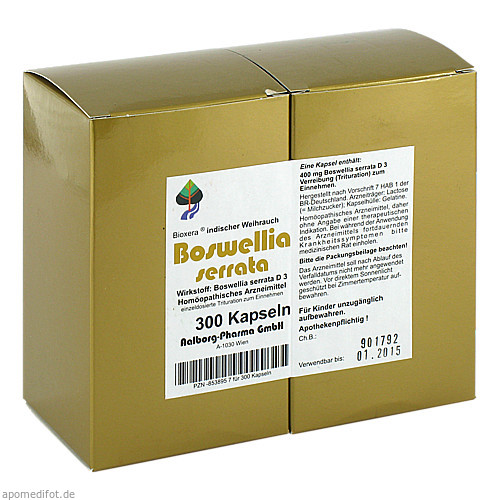 Boswellia serrata Bioxera, 300 ST, Aalborg Pharma GmbH