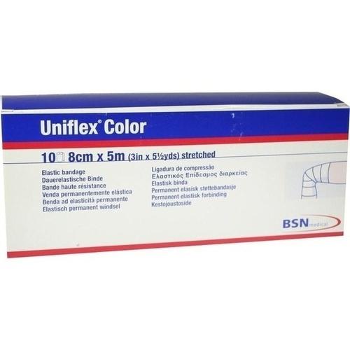 Uniflex Color blaue Universalbinde 5mx8cm, 10 ST, Bsn Medical GmbH