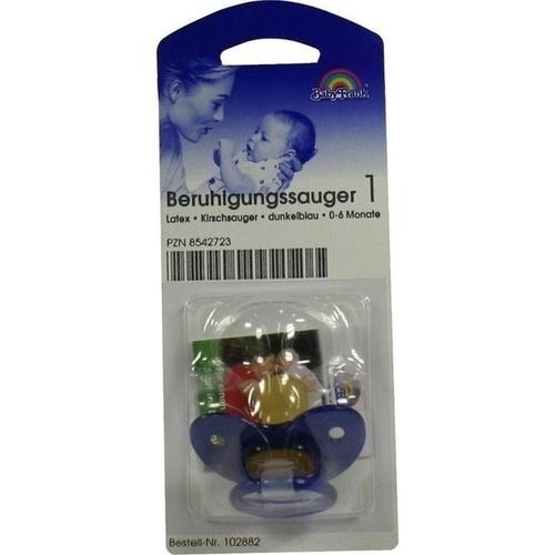 Sauger Kirsche Kl./Sch.gr. Dunkelblau 102882, 1 ST, Büttner-Frank GmbH