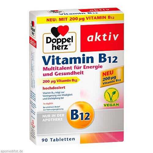 DOPPELHERZ Vitamin B12 Tabletten, 90 ST, Queisser Pharma GmbH & Co. KG