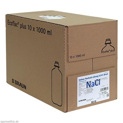 Isot. Kochsalz 0.9% Ecofl. Pl., 10X1000 ML, B. Braun Melsungen AG