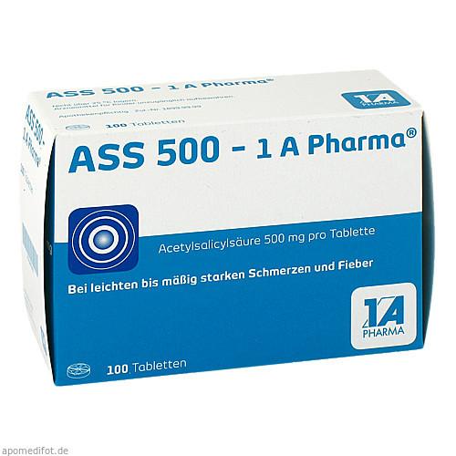ASS 500 1A Pharma Tabletten, 100 ST, 1 A Pharma GmbH