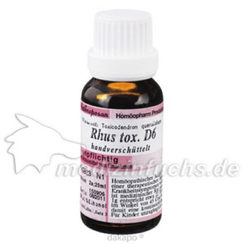 RHUS TOXICODENDRON D 6, 20 ML, Anthroposan Homöopharm Produktionsgesellschaft mbH