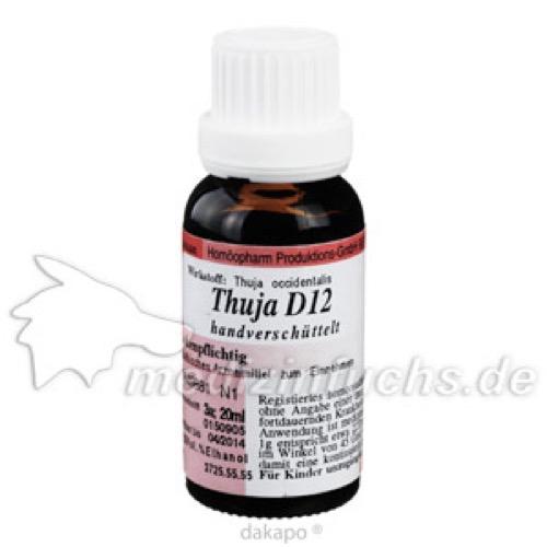 THUJA D12, 20 ML, Anthroposan Homöopharm Produktionsgesellschaft mbH