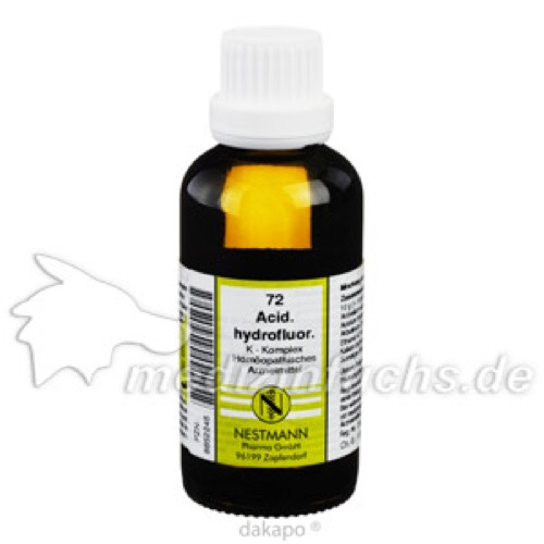Acidum Hydrofluor K Kompl 72, 50 ML, Nestmann Pharma GmbH