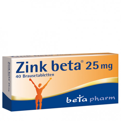 Zink beta 25, 40 ST, betapharm Arzneimittel GmbH