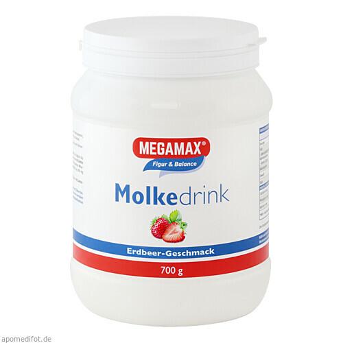 Molke Drink Megamax Erdbeer, 700 G, Megamax B.V.