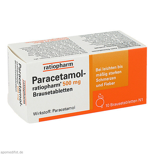 Paracetamol-ratiopharm 500mg Brausetabletten, 10 ST, ratiopharm GmbH