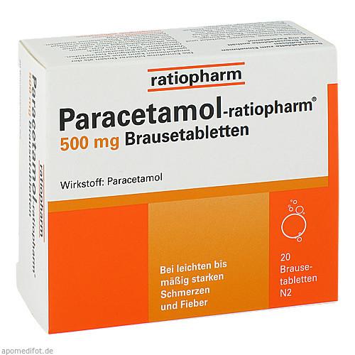 Paracetamol-ratiopharm 500mg Brausetabletten, 20 ST, ratiopharm GmbH