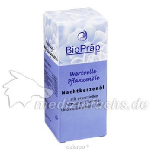 Nachtkerzenöl Oenothera biennis, 100 ML, BioPräp Biolog.Präp.Handelsges.mbH