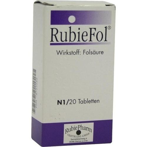 RUBIEFOL Tabletten, 20 ST, RubiePharm Vertriebs GmbH