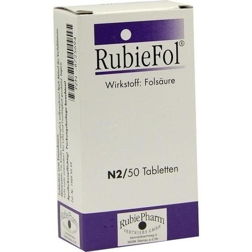 RUBIEFOL Tabletten, 50 ST, RubiePharm Vertriebs GmbH