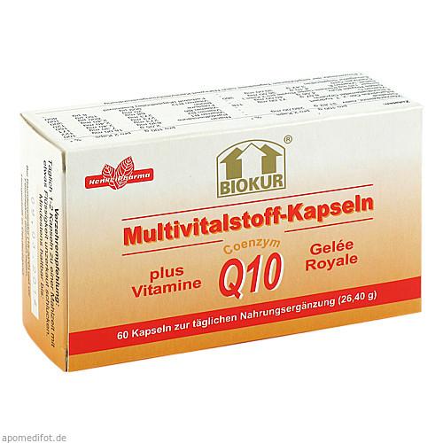 Biokur Multivitkapseln +Q10+GR, 60 ST, Ernst A.W. Henkel