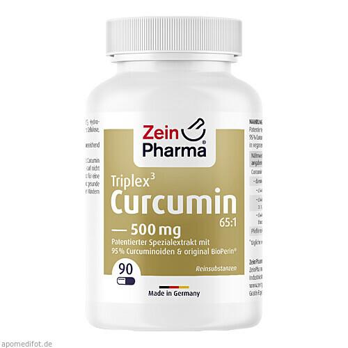 CURCUMIN-Triplex3 500 mg/Kap.95% Curcumin+BioPerin, 90 ST, Zein Pharma - Germany GmbH