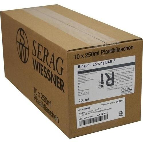 Ringer-Lösung DAB 7 Plastik, 10X250 ML, Serag-Wiessner GmbH & Co. KG