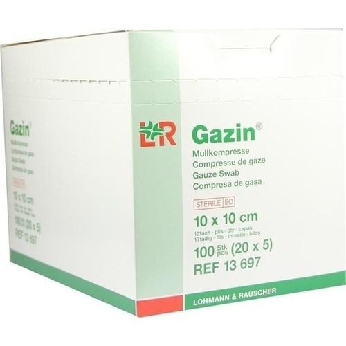 Gazin Kompresse 10x10cm 12fach groß steril, 20X5 ST, Lohmann & Rauscher GmbH & Co. KG