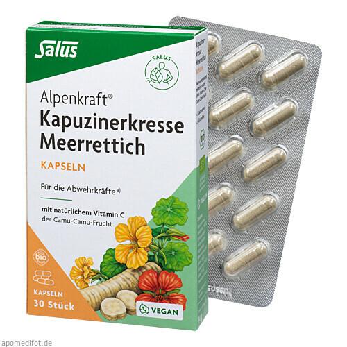 Kapuzinerkresse-Meerrettich Kapseln Alpenkraft, 30 ST, Salus Pharma GmbH