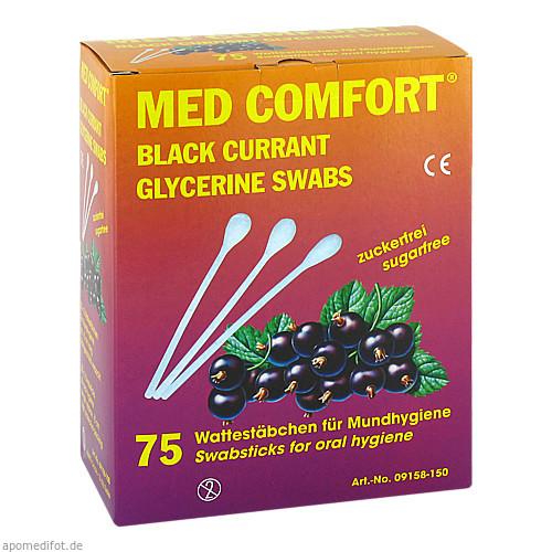 Mundpflegestäbchen schwarze Johannisbeere, 25X3 ST, Dr. Junghans Medical GmbH