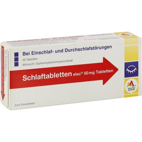 Schlaftabletten elac 50mg Tabletten, 20 ST, Dr. Pfleger Arzneimittel GmbH