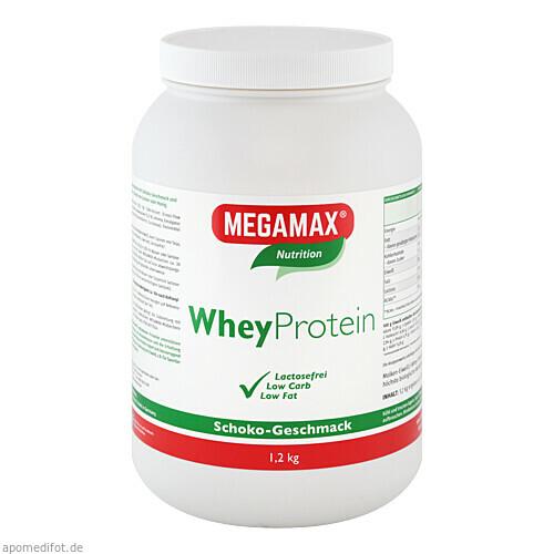 WheyProtein Lactosefrei Schoko, 1200 G, Megamax B.V.